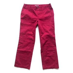 Tommy Hilfiger Carmine Red Cropped Chino Pants